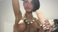 Anisyia Livejasmin Creamy Blow-Job And Gagging, Massive Breasts Covered In Spit